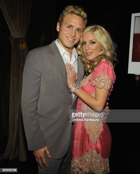 Actor Spenser Pratt and actress Heidi Montag attends the after party for Harold New York Premiere at The Boost Mobile Film Lounge on April 30 2008 in...