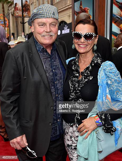 Actor Stacy Keach and Malgosia Tomassi attend World Premiere Of Disney's Planes Fire Rescue at the El Capitan Theatre on July 15 2014 in Hollywood...