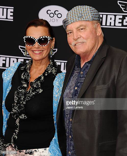 Actor Stacy Keach and wife Malgosia Tomassi attend the premiere of Planes Fire Rescue at the El Capitan Theatre on July 15 2014 in Hollywood...