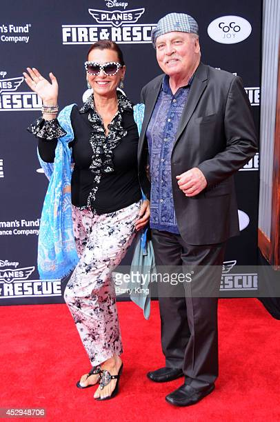 Actor Stacy Keach and wife Malgosia Tomassi attend the premiere of 'Planes Fire Rescue' on July 15 2014 at the El Capitan Theatre in Hollywood...