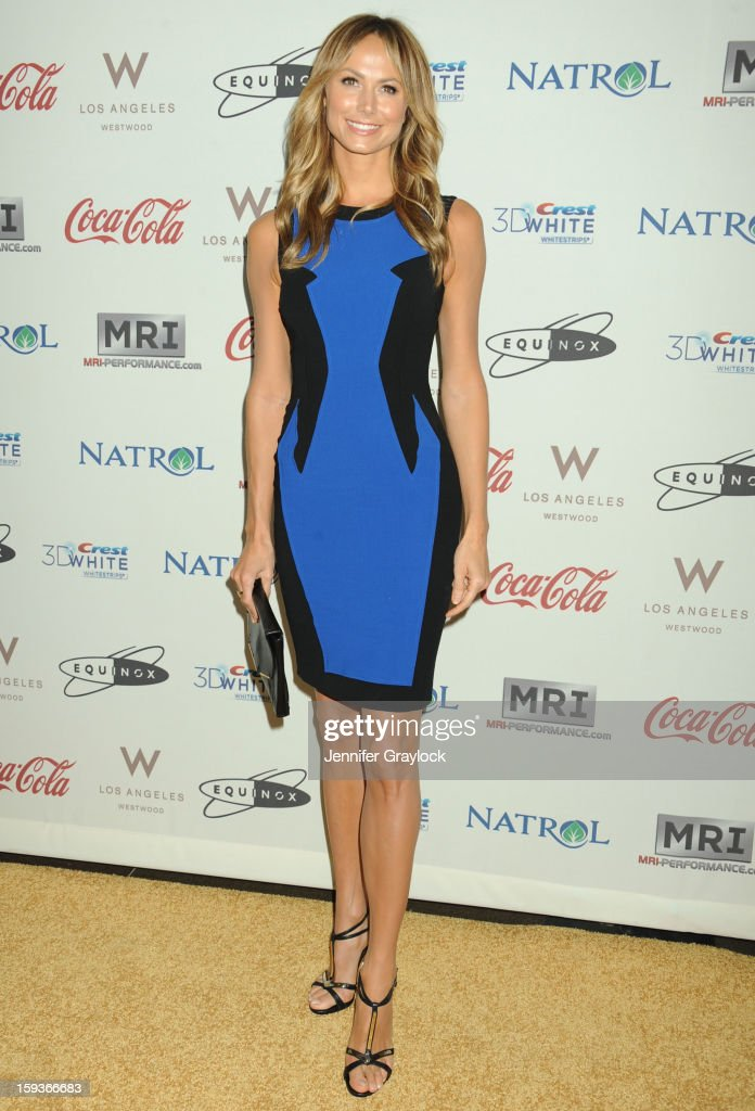 Actor Stacy Keibler attends the Gold Meets Gold Event, held at the Equinox Sports Club Flagship West Los Angeles location on Saturday, January 12, 2013 in Los Angeles, California.