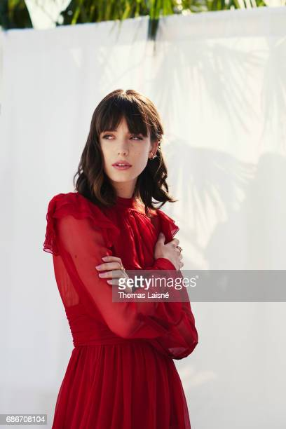 Actor Stacy Martin is photographed on May 21 2017 in Cannes France