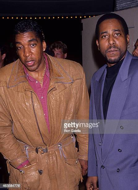 Actor Stan Shaw and rapper Tone Loc attend the Ace Ventura Pet Detective Westwood Premiere on January 25 1994 at the Mann Bruin Theatre in Westwood...