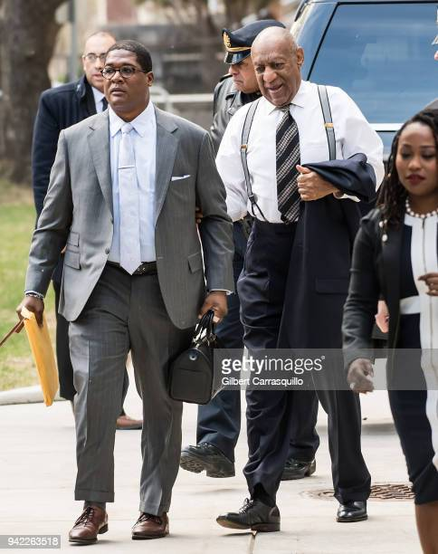 Actor/ standup comedian Bill Cosby arrives to Montgomery County Courthouse for his sexual assault retrial on April 5 2018 in Norristown Pennsylvania
