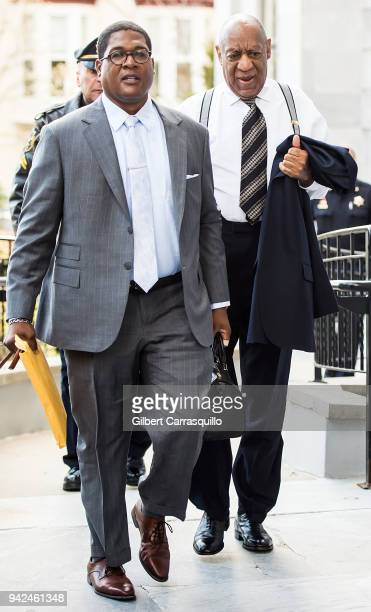 Actor/ standup comedian Bill Cosby arriving at the Montgomery County Courthouse for jury selection for his sexual assault retrial on April 5 2018 in...