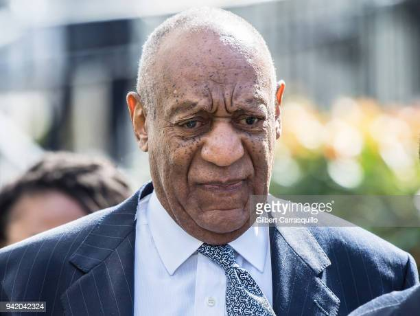 Actor/ standup comedian Bill Cosby leaving the Montgomery County Courthouse as jury selection continues for his sexual assault retrial on April 4...