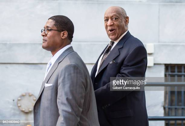 Actor/ standup comedian Bill Cosby leaving the Montgomery County Courthouse as jury selection for his sexual assault retrial on April 5 2018 in...