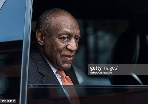 Actor/ standup comedian Bill Cosby leaving the Montgomery County Courthouse after the second day of his retrial for sexual assault charges on April...