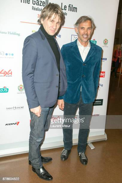 Actor Stanislas Merhar and Paul Belmondo attend 'The Gazelles' directed by Paul Belmondo Paris Premiere at UNESCO on November 24 2017 in Paris France