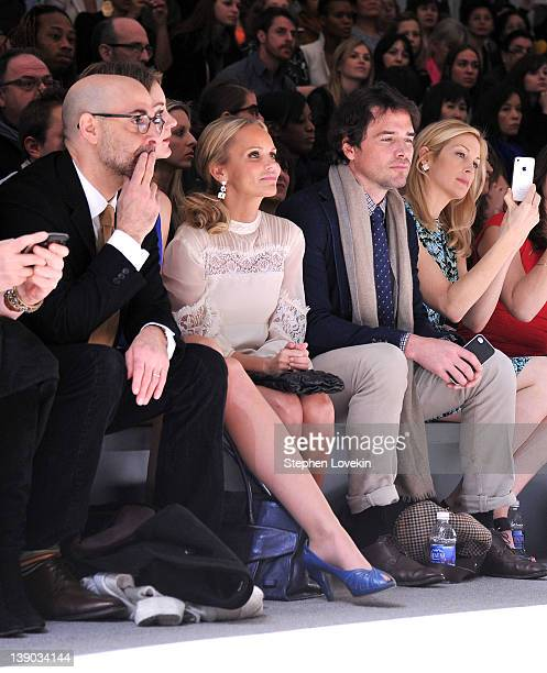 Actor Stanley Tucci actress Kristin Chenoweth actor Matthew Settle and actress Kelly Rutherford attend the Nanette Lepore Fall 2012 fashion show...