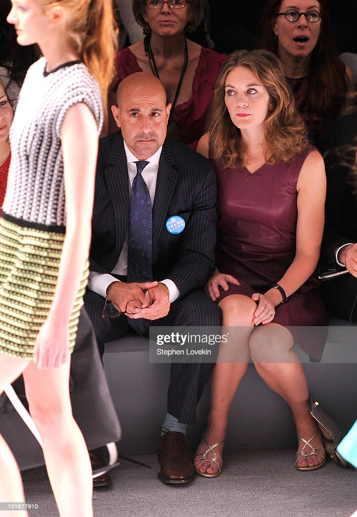 Actor Stanley Tucci and Felicity Blunt attend the Nanette Lepore Spring 2013 fashion show during Mercedes-Benz Fashion Week at The Stage Lincoln Center on September 12, 2012 in New York City.