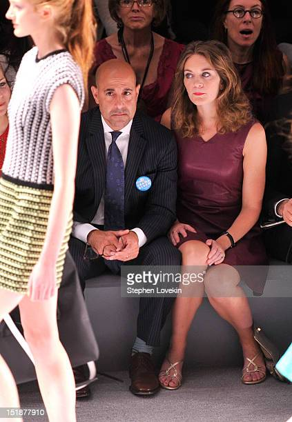 Actor Stanley Tucci and Felicity Blunt attend the Nanette Lepore Spring 2013 fashion show during MercedesBenz Fashion Week at The Stage Lincoln...