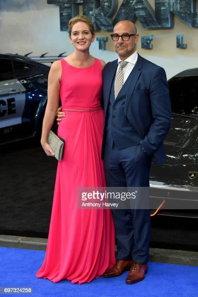 Actor Stanley Tucci and his wife Felicity Blunt attend the global premiere of Transformers The Last Knight at Cineworld Leicester Square on June 18...