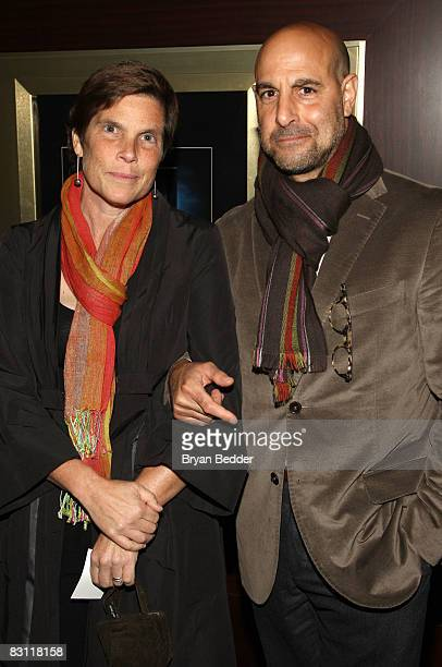 Actor Stanley Tucci and his wife Kate Tucci attend the IFC Films host a screening of Gomorrah at the Dolby screening room on October 3 2008 in New...