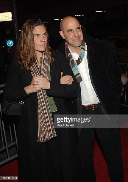 Actor Stanley Tucci and his wife Kate Tucci attends the premiere of Merchant Ivory's The White Countess at the Paris Theatre on November 21 2005 in...