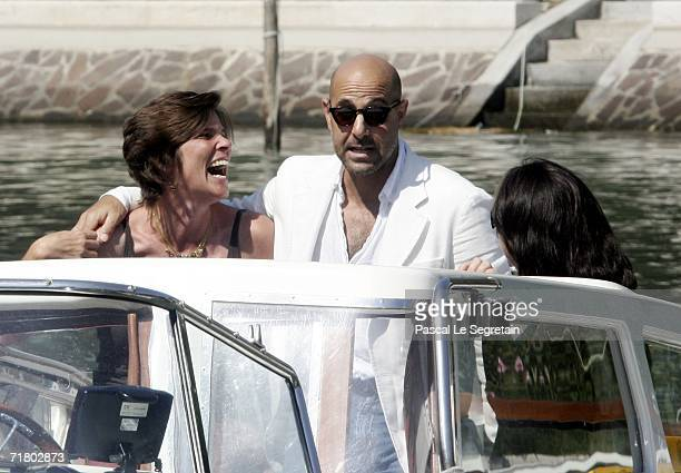 Actor Stanley Tucci and wife Kate arrive to attend a photocall promoting the film 'Devil Wears Prada' during the ninth day of the 63rd Venice Film...