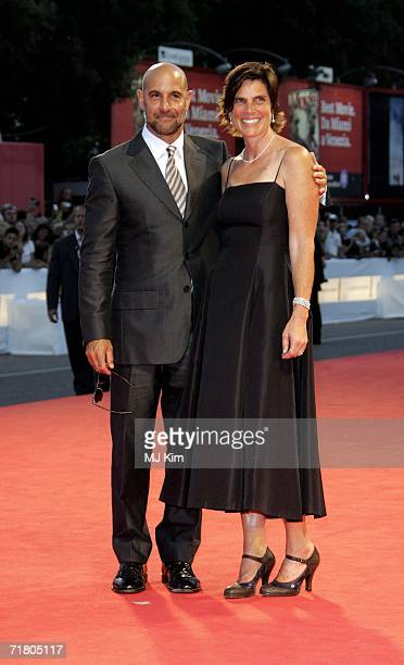 Actor Stanley Tucci and wife Kate attend the premiere of the film 'Devil Wears Prada' during the ninth day of the 63rd Venice Film Festival on...