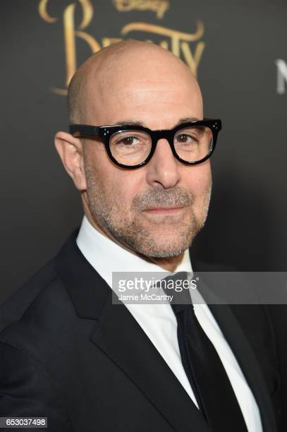 Actor Stanley Tucci arrives at the New York special screening of Disney's liveaction adaptation Beauty and the Beast at Alice Tully Hall on March 13...