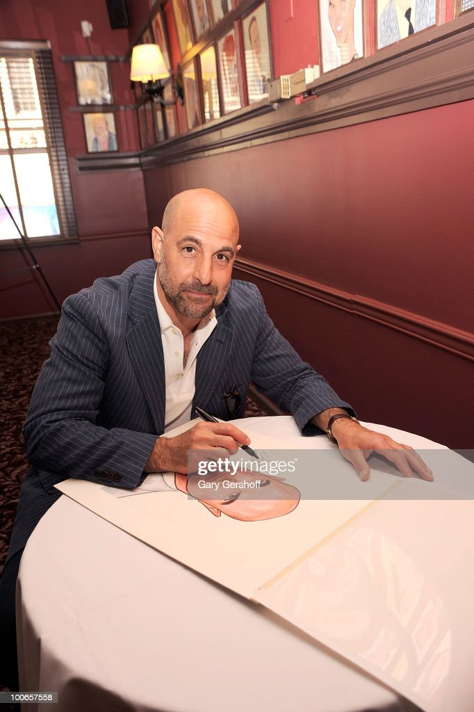 "Stanley Tucci Of Broadway's ""Lend Me A Tenor"" Honored With Caricature"