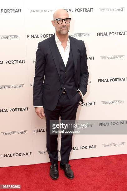 Actor Stanley Tucci attends the 'Final Portrait' New York Screening at Guggenheim Museum on March 22, 2018 in New York City.