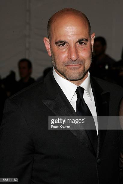 Actor Stanley Tucci attends the Metropolitan Museum of Art Costume Institute Benefit Gala Anglomania at the Metropolitan Museum of Art May 1 2006 in...