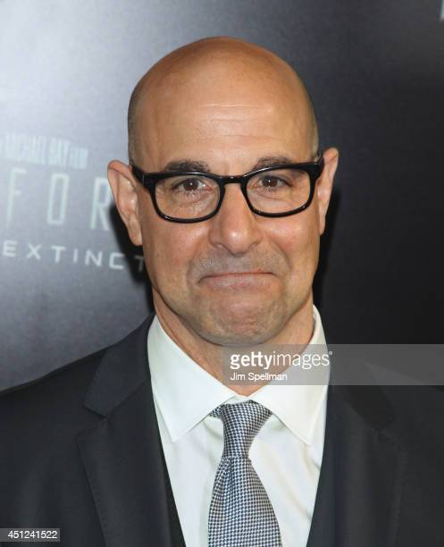 """Actor Stanley Tucci attends the """"Transformers: Age Of Extinction"""" New York Premiere at the Ziegfeld Theater on June 25, 2014 in New York City."""