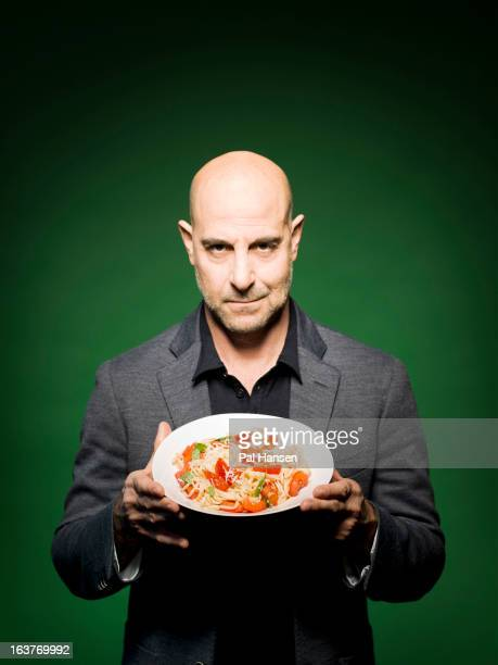 Actor Stanley Tucci is photographed for the Observer on November 13 2012 in London England