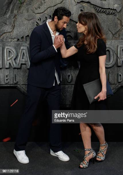 Actor Stany Coppet and girlfriend Dolores Chaplin attend the 'Jurassic World Fallen Kingdom' premiere at Wizink Center on May 21 2018 in Madrid Spain
