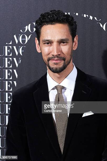 Actor Stany Coppet attends a dinner in honor of Victoria Beckham organized by Vogue at the Santo Mauro Hotel on January 18 2018 in Madrid Spain