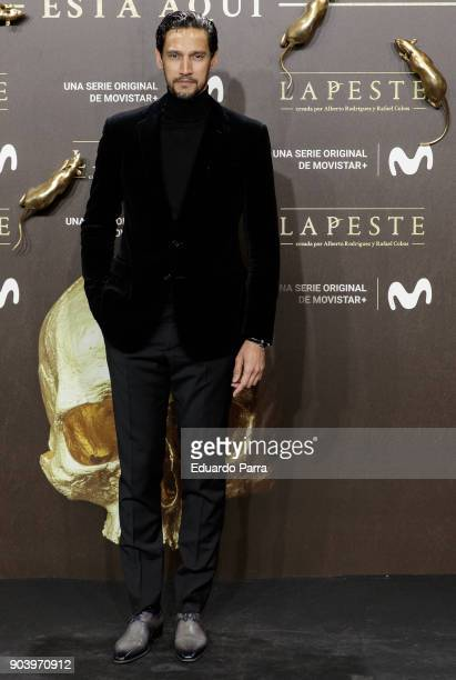Actor Stany Coppet attends the 'La peste' premiere at Callao cinema on January 11 2018 in Madrid Spain