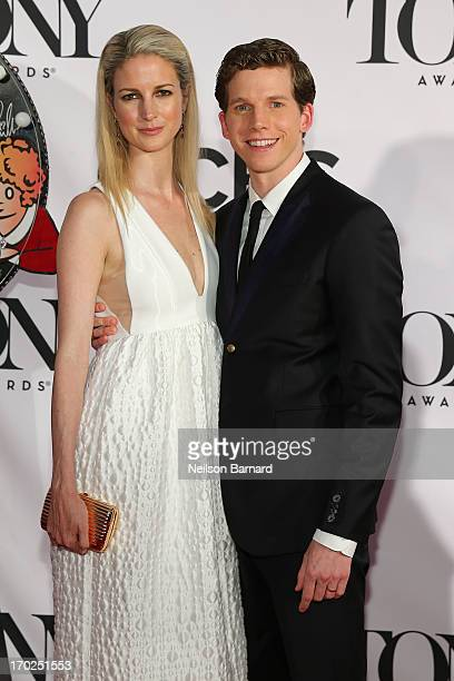 Actor Stark Sands and Gemma Clarke attend The 67th Annual Tony Awards at Radio City Music Hall on June 9 2013 in New York City