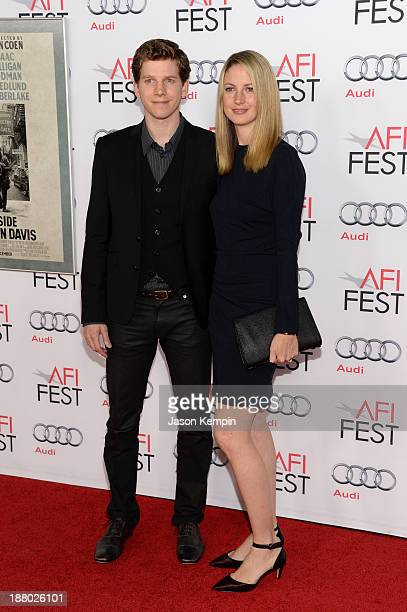 Actor Stark Sands and Gemma Clarke attend the AFI FEST 2013 presented by Audi closing night gala screening of Inside Llewyn Davis at TCL Chinese...