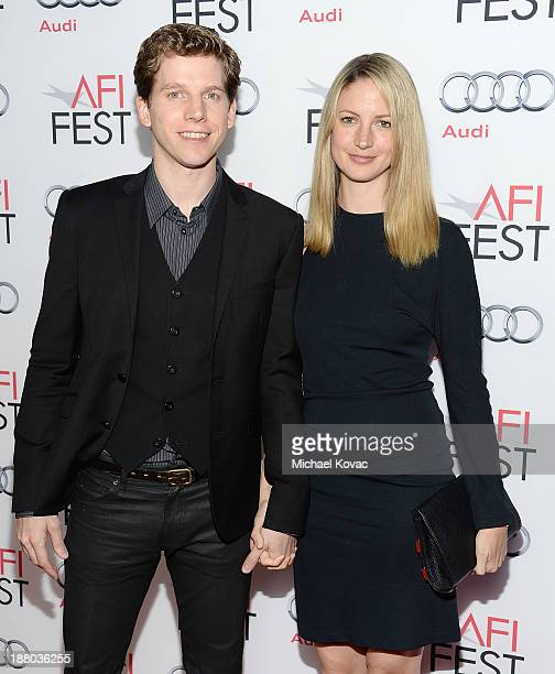 Actor Stark Sands and Gemma Clarke attend the AFI FEST 2013 presented by Audi closing night gala screening of 'Inside Llewyn Davis' at TCL Chinese...