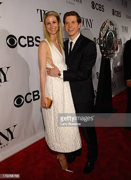 Actor Stark Sands and Gemma Clarke attends The 67th Annual Tony Awards at Radio City Music Hall on June 9 2013 in New York City