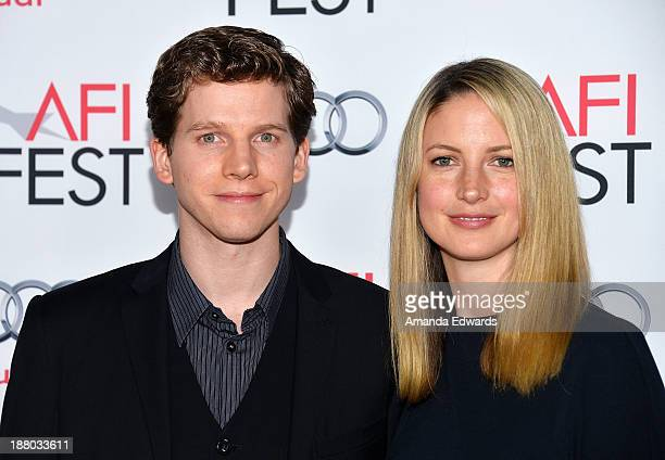 Actor Stark Sands and his wife Gemma Clarke arrive at the AFI FEST 2013 Presented By Audi Inside llewyn Davis closing night gala premiere at the TCL...