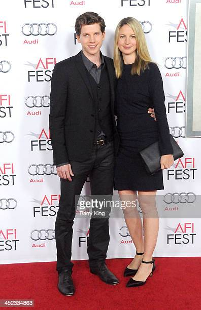 Actor Stark Sands and his wife Gemma Clarke attend the screening of 'Inside Llewyn Davis' at AFI FEST 2013 closing night gala on November 14 2013 at...