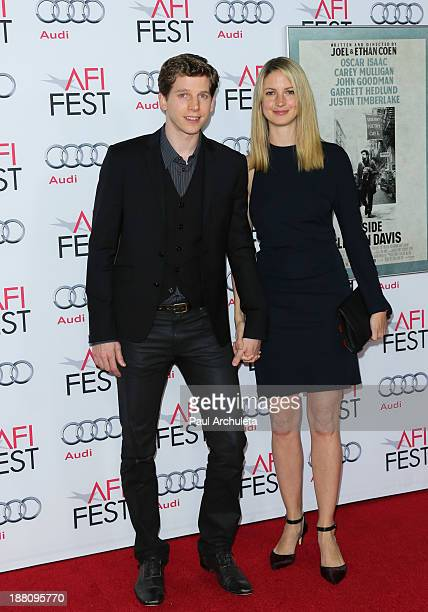 Actor Stark Sands and his Wife Gemma Clarke attends the screening Of Inside Llewyn Davis at AFI FEST 2013 closing night gala at The TCL Chinese...