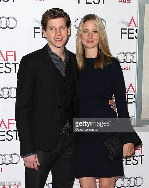 Actor Stark Sands and wife Gemma Clarke attend the AFI FEST 2013 presented by Audi Closing Night Gala Screening of Inside Llewyn Davis at the TCL...