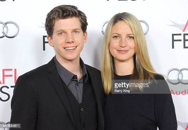 Actor Stark Sands and wife Gemma Clarke attend the screening of 'Inside Llewyn Davis' at AFI FEST 2013 closing night gala on November 14 2013 at TCL...