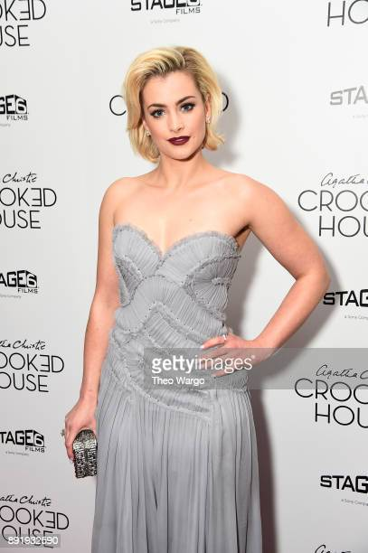 Actor Stefanie Martini attends the 'Crooked House' New York Premiere at Metrograph on December 13 2017 in New York City