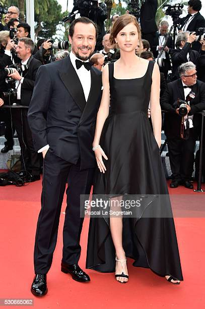 Actor Stefano Accorsi and Bianca Vitali attend the Cafe Society premiere and the Opening Night Gala during the 69th annual Cannes Film Festival at...