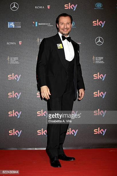 Actor Stefano Accorsi arrives at the 60 David di Donatello ceremony on April 18 2016 in Rome Italy