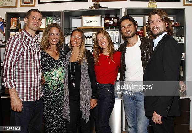 Actor Steffen Groth photographer Nela Koenig sportswoman Kristin Boese actress Alexandra Neldel actor Simon Verhoeven and singer Ray Garvey attend...