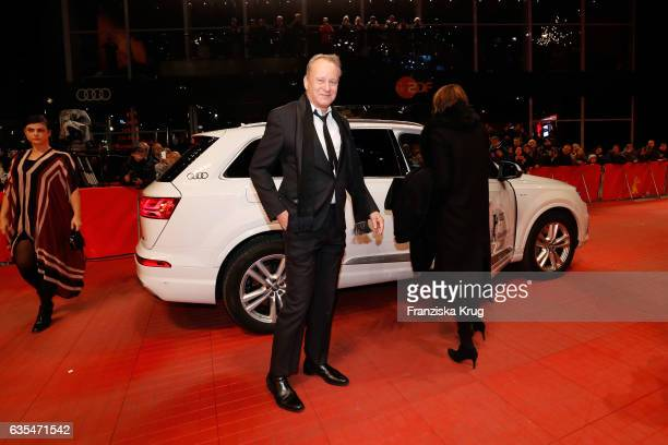 Actor Stellan Skarsgard and his wife Megan Everett arrive at the 'Return to Montauk' premiere during the 67th Berlinale International Film Festival...