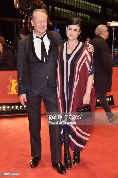 Actor Stellan Skarsgard and Megan Everett attend the 'Return to Montauk' premiere during the 67th Berlinale International Film Festival Berlin at...