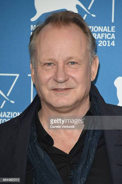 Actor Stellan Skarsgard attends the 'Nymphomaniac Volume 2 Directors Cut' Photocall during the 71st Venice Film Festival at Palazzo Del Casino on...