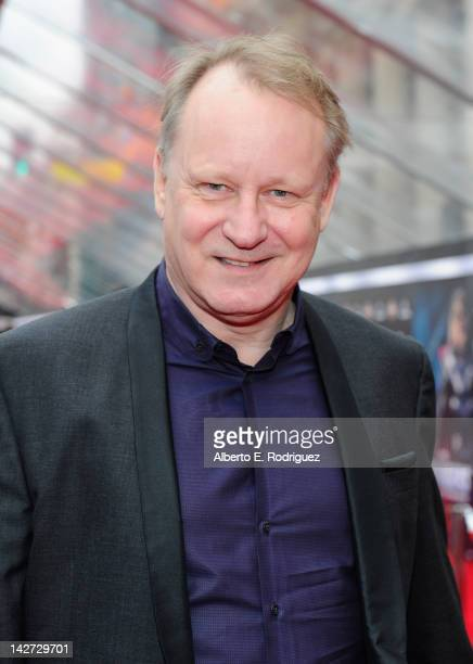 Actor Stellan Skarsgard attends the premiere of Marvel Studios' Marvel's The Avengers held at the El Capitan Theatre on April 11 2012 in Hollywood...