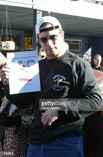 Actor Stepehn Baldwin who was promoting his coffee drink Loco Joe on Main Street seen at the 2003 Sundance Film Festival on January 19 2003 in Park...