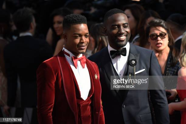 US actor Stephan James and Shamier Anderson arrive for the 91st Annual Academy Awards at the Dolby Theatre in Hollywood California on February 24 2019