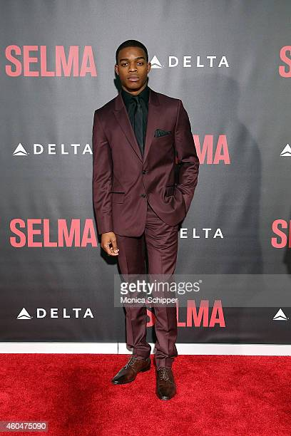 Actor Stephan James attends Selma New York Premiere Inside Arrivals at Ziegfeld Theater on December 14 2014 in New York City